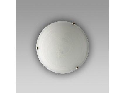 ALABASTER celokruh nástenné svietidlo biela/chróm 300mm 1xE27 1414K Prezent