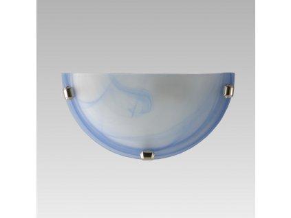 ALABASTER polkruh nástenné svietidlo 150/300mm modrá 1xE27 1404 Prezent