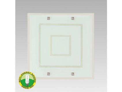 ACROSS stropné štvorcové svietidlo sklenené 2xE27 1378