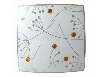 ANETTA stropné/nástenné štvorcové svietidlo sklenené 400x400 2xE27 45093