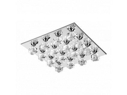 NASSAU kryštálové stropné štvorcové svietidlo chrómové 16xG4 64306
