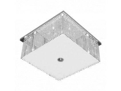 RETTO sklenené stropné štvorcové svietidlo 8xG4 64330