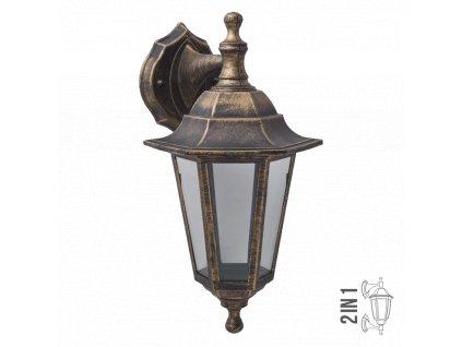 CAPRI lucerna nástenná nahor/nadol rustikálna 1xE27 IP44 3081