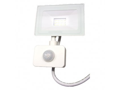 Reflektor SMD LED 10W so senzorom PIR - biely 4500K 0547