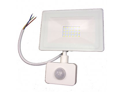 Reflektor SMD LED 20W so senzorom PIR - biely 4500K 0658