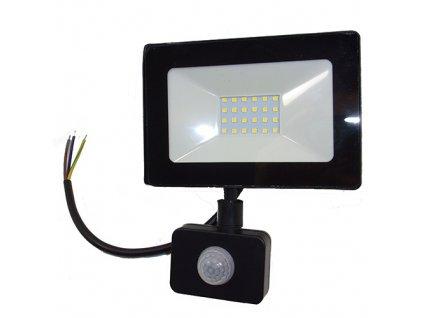 Reflektor SMD LED 20W so senzorom PIR - čierny 4500K 0663