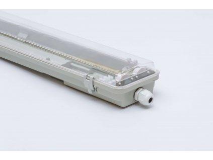 Prachotesné LED svietidlo 120cm 2x36W IP65 priehľadné obojstranné napájanie 1135 LVT