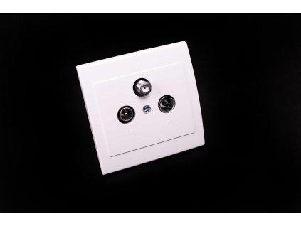 Zásuvka TV+R+SAT Praktik biela 4FK28362.901 Tesla