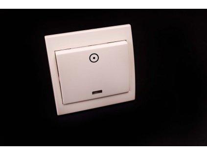 Zvončekové tlačidlo Praktik 1/0S béžové 4FN58018.915 Tesla