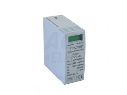 Vložka do zvodiča prepätia AC typ 2 230V 20/40kA 1P