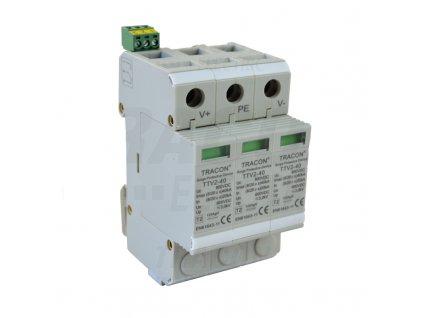 Zvodič prepätia typu 2 pre jednosmerný DC systém 3P 600V DC