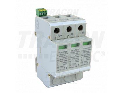 Zvodič prepätia typu 2 pre jednosmerný DC systém 3P 1000V DC