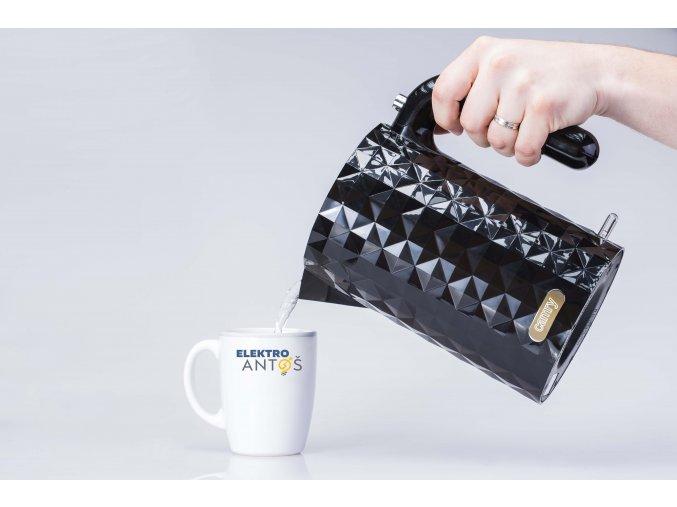 Elektrická varná kanvica Camry CR 1269 čierna