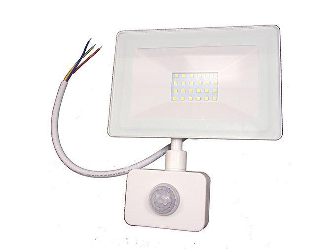 Reflektor SMD LED 20W so senzorom PIR - biely 4500K