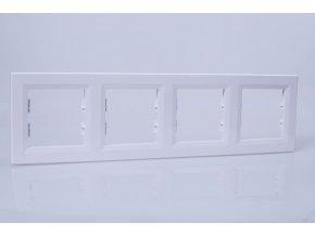 Rámček ASFORA 4-násobný vodorovný, biely