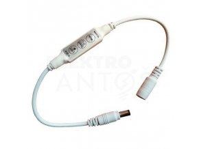Stmievač pre LED pásy, manuálny 6A, 72-144W