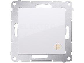 Vypínač Simon54 PREMIUM/NATURE krížový č.7-biely lesklý