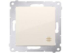 Vypínač Simon54 PREMIUM/NATURE krížový č.7-krémový lesklý