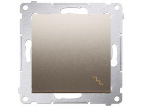 Vypínač Simon54 PREMIUM/NATURE striedavý č.6-zlatý matný