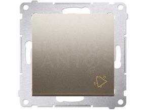 Zvončekové tlačítko Simon54 PREMIUM zlaté matné
