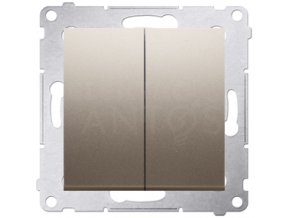 Vypínač Simon54 PREMIUM/NATURE sériový č.5-zlatý matný