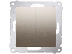 Vypínač Simon54 PREMIUM/NATURE sériový č.5B-zlatý matný