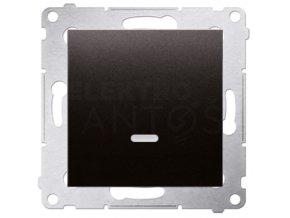 Vypínač Simon54 PREMIUM/NATURE jednopólový č.1 s kontrolkou-antracitový matný