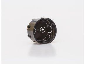 Krabica inštalačná prístrojová pod omietku čierna nadpájateľná 6400-301