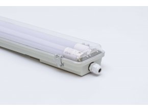 Prachotesné LED svietidlo 120cm 2x36W IP65 s trubicami 6500K, priehľadné, jednostranné napájanie 5663 LVT