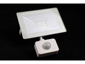 Reflektor SMD LED 30W so senzorom PIR - biely 4500K