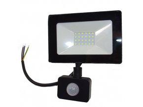 Reflektor SMD LED 20W so senzorom PIR čierny - 4500K