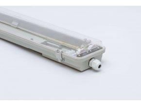 Prachotesné LED svietidlo 120cm 2x36W IP65 3327 priehľadné jednostranné napájanie