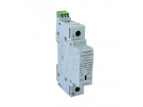 AC zvodič prepätia, typ 2, vyberateľné moduly 230 V, 50 Hz, 10/20 kA (8/20 us), 1P
