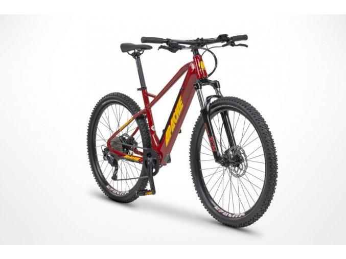 """Apache Yamka E5 27.5"""" , zadný motor, batéria 13Ah (468Wh) , červeno-žltá, model 2021"""