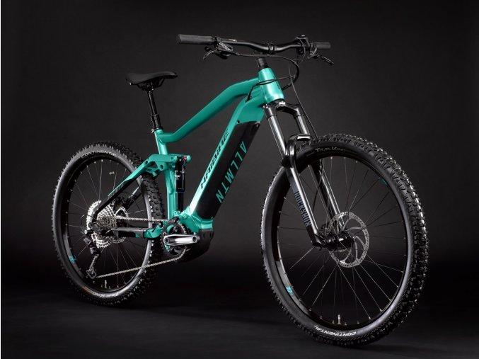 2021 Haibike AllMtn 1 630Wh Electric Mountain Bike in AquamarineBlack 1