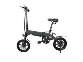 black foldable electric bike