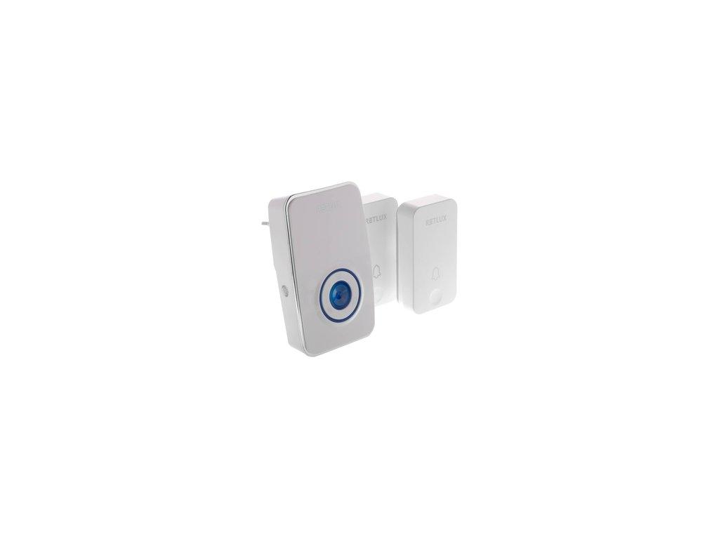 Domovní bezdrátový zvonek Sencor RDB 102 se dvěma bezbateriovými piezo tlačítky