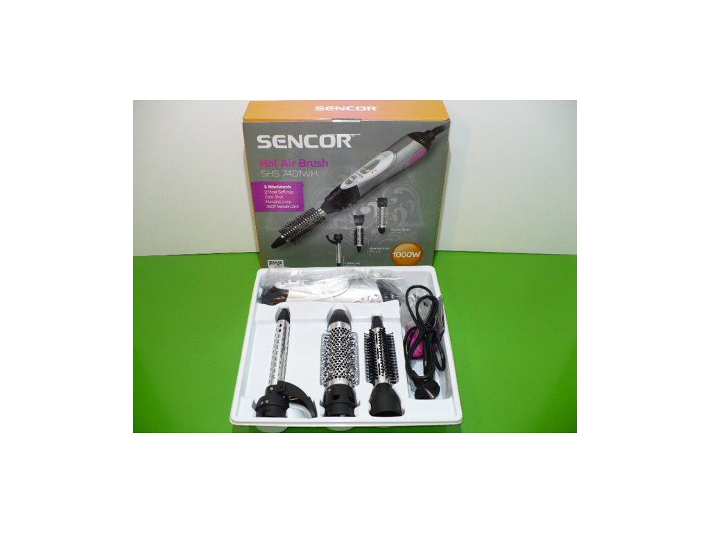 Horkovzdušná kulma Sencor SHS 7401 1000W se třemi nástavci