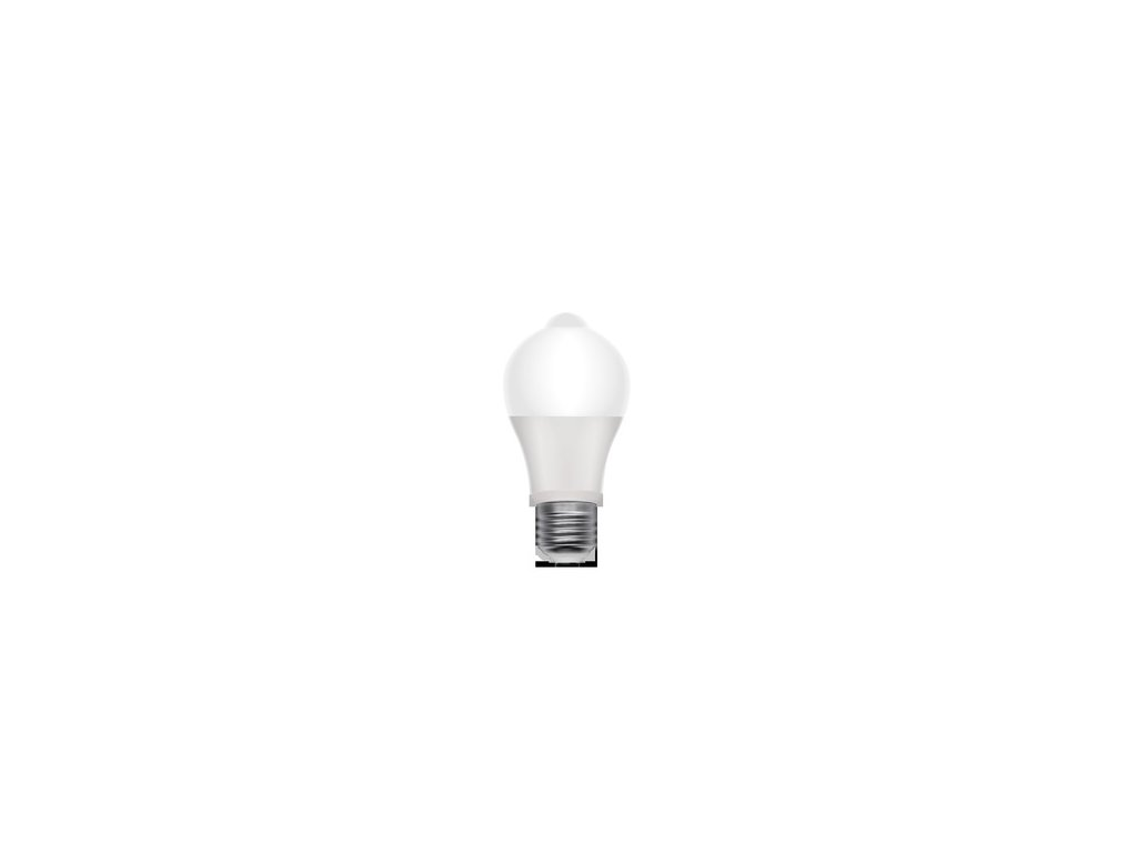 LED žárovka s pohybovým čidlem /PIR senzorem/ Retlux RLL 317 A60 E27 8W WW