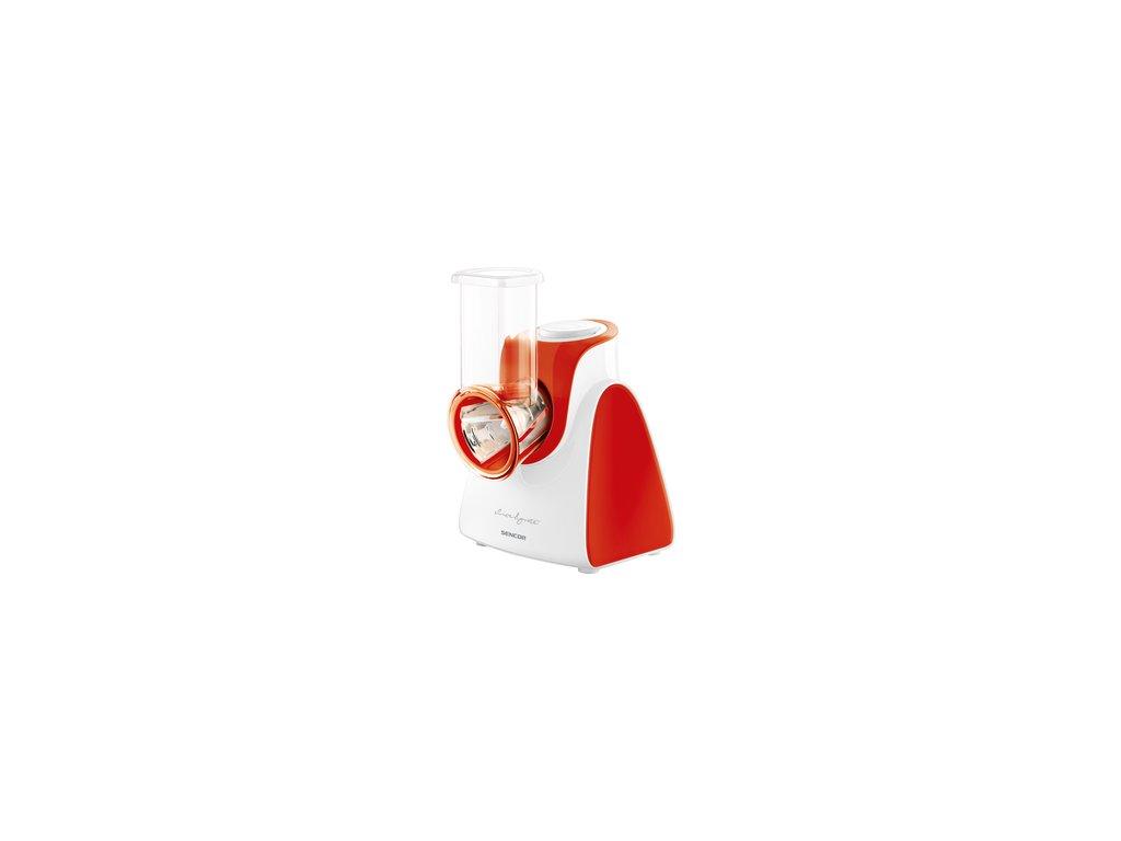 Elektrické struhadlo /krouhač, kráječ/ na ovoce, zeleninu, sýry Sencor SSG 3504RD červené