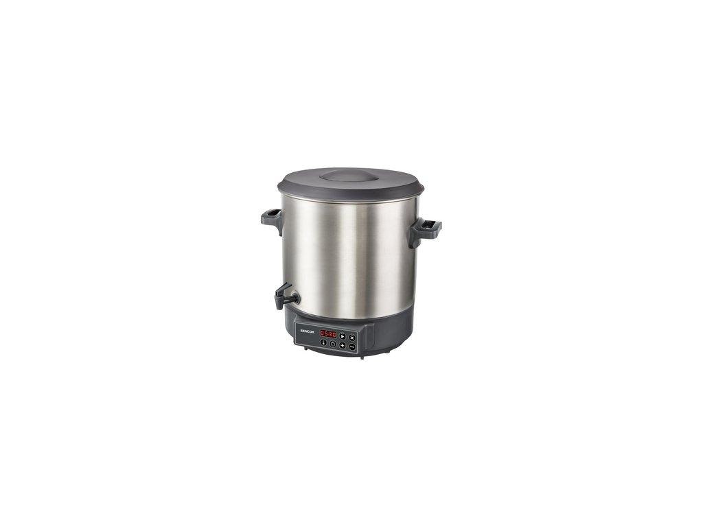 Zavařovací hrnec Sencor SPP 3200SS 27 litrů vypouštění, termostat, časovač, nerez  DOPRAVA ZDARMA