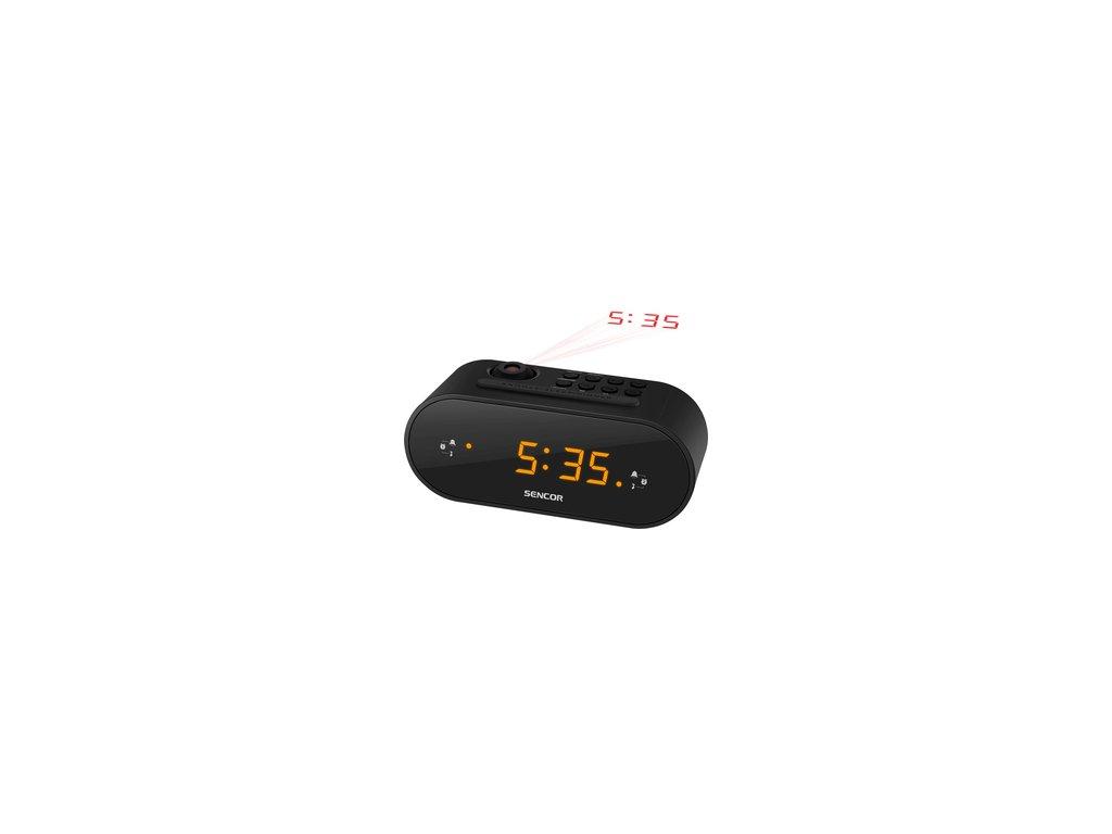Radiobudík s promítáním času Sencor SRC 3100 B /projekční/