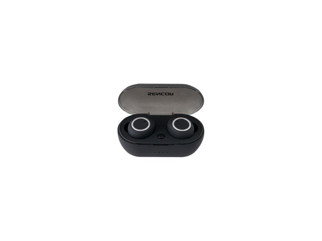 Plně bezdrátová bluetooth sluchátka /pecky/ Sencor SEP 510BT BK TWS černá