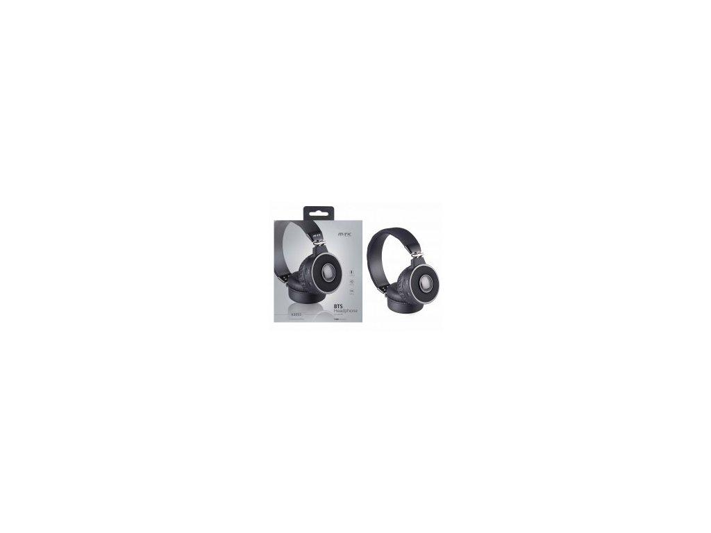 Bezdrátová bluetooth sluchátka PLUS K3553 černá