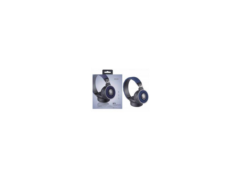 Bezdrátová bluetooth sluchátka PLUS K3553 modrá