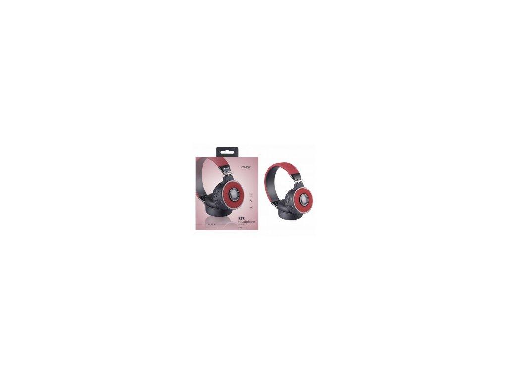 Bezdrátová bluetooth sluchátka PLUS K3553 červená