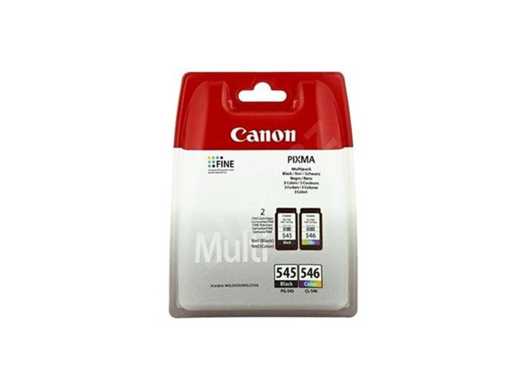 Inkoustová náplň CANON PG-545/CL-546 originál černá a barevná MG2950 2450 2550