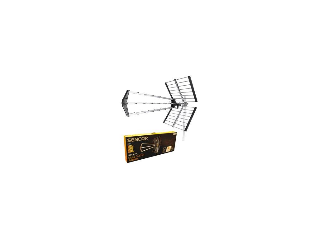 Venkovní směrová televizní anténa Sencor SDA 640 DVB-T HD 4G