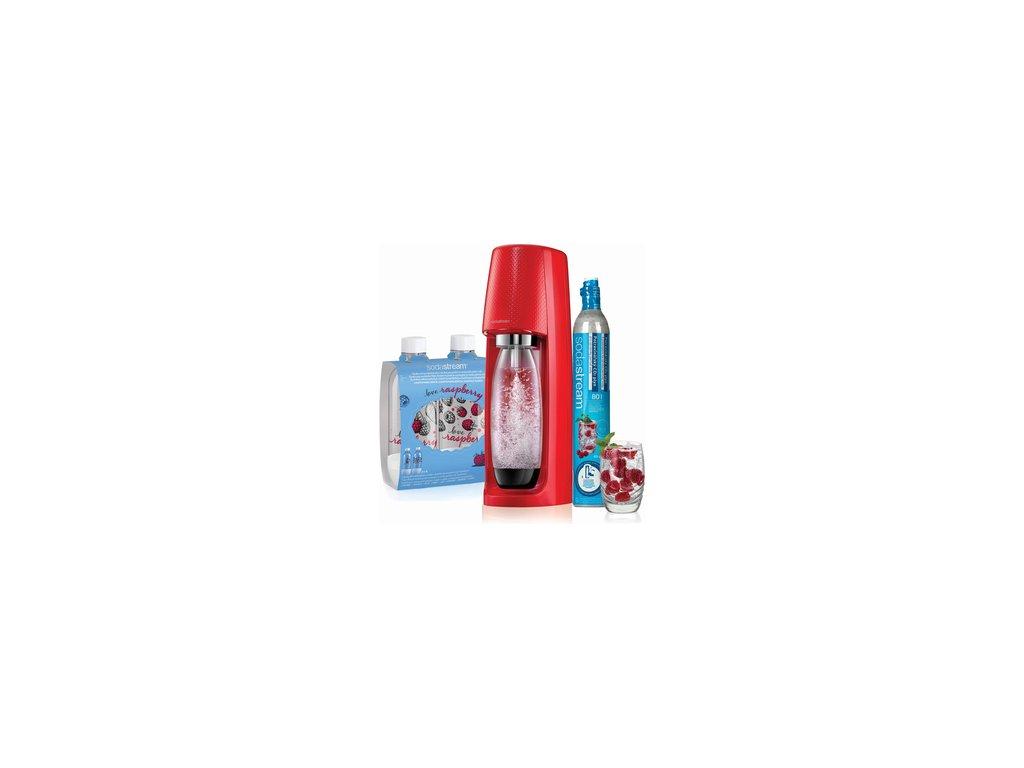 Výrobník domácí perlivé vody Sodastream SADA Spirit Red + Lahve Love Raspberry  2x1  DOPRAVA ZDARMA
