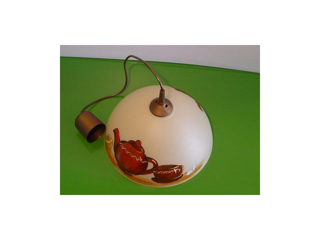 Lustr kuchyňský motiv čajník